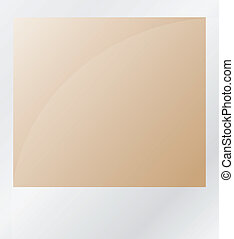 photo, blanc, isolé, brun