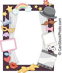 Photo Booth Frame - Illustration of a Photo Frame Made for...