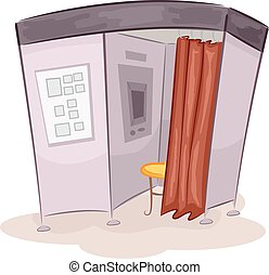 Photo Booth - Illustration of a Photo Booth