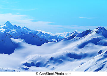 Photo bright landscape with Caucasian mountains