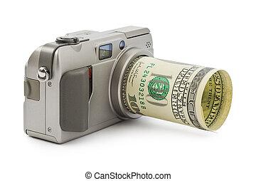 Photo camera and money