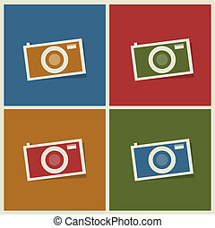 photo camera flat icons