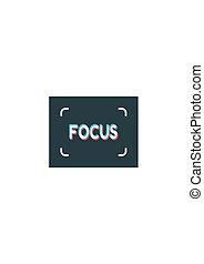 Photo camera focusing screen