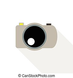 Photo camera icon, flat style