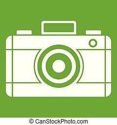 Photo camera icon green