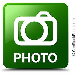 Photo (camera icon) green square button