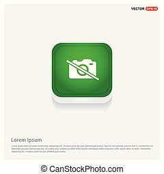 Photo camera icon Green Web Button