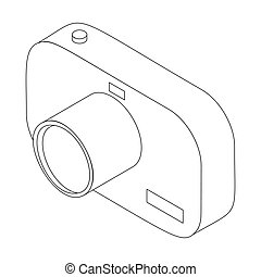 Photo camera icon, isometric 3d style