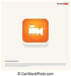 Photo camera icon Orange Abstract Web Button