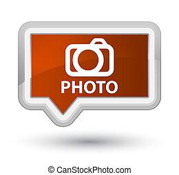 Photo (camera icon) prime brown banner button