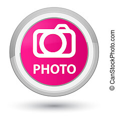 Photo (camera icon) prime pink round button