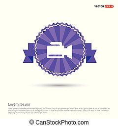 Photo camera icon - Purple Ribbon banner