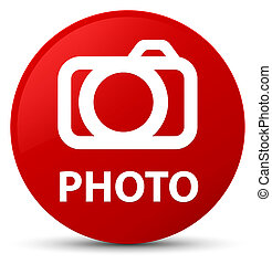 Photo (camera icon) red round button