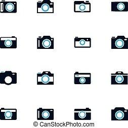 photo camera icon set