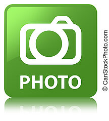 Photo (camera icon) soft green square button