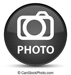Photo (camera icon) special black round button