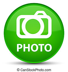 Photo (camera icon) special green round button