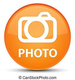 Photo (camera icon) special orange round button