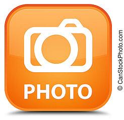 Photo (camera icon) special orange square button