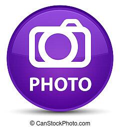 Photo (camera icon) special purple round button