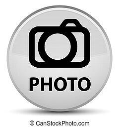 Photo (camera icon) special white round button