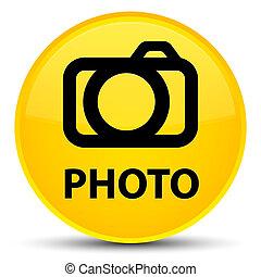 Photo (camera icon) special yellow round button