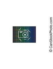 Photo camera icon. Vector. Main parameters