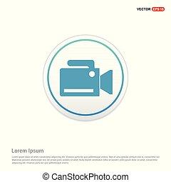 Photo camera icon - white circle button