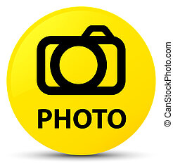 Photo (camera icon) yellow round button