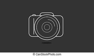 photo camera in a flat design - Photo camera in a flat...