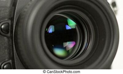 photo camera iris short exposures