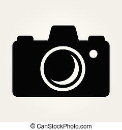 Photo camera isolated on white background. Vector illustration