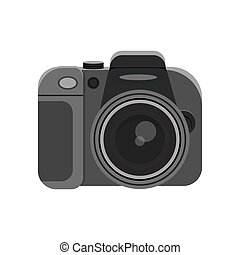 photo camera isolated on white - Elegant photo camera on ...