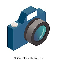 Photo camera isometric 3d icon