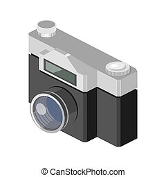Photo camera isometric vector
