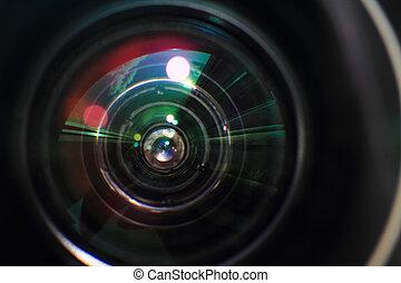 photo camera lens background