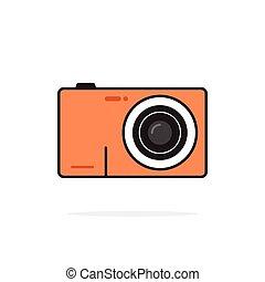Photo camera vector icon isolated on white background