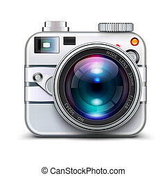 Photo camera - Vector illustration of detailed icon...