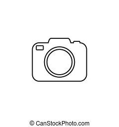Photo camera vector line icon