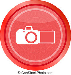 photo camera web icon isolated on white background