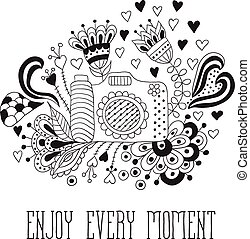 Photo camera with motivational quotes, remember every moment...