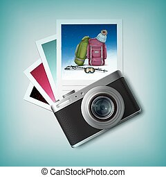 Photo camera with snapshots