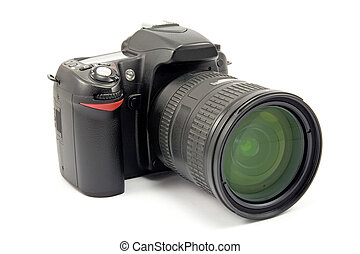 photo camera with zoom lens