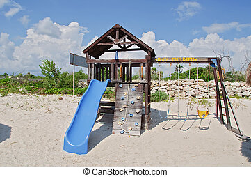 capture at kids play area by beach