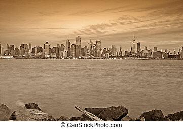 capture of new york city, nyc, usa