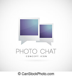 Photo chat vector concept symbol icon