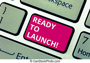 photo, clavier ordinateur, prêt, message, début, créer, écriture, application, texte, conceptuel, nouveau, launch., produit, business, projection, préparé, clã©, promouvoir, idea., intention, main, logiciel