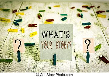photo, clips, placé, propre, effritement, être, question., table., sur, s, quelqu'un, histoire, note, ton, showcasing, demandé, projection, voyage, papier, mon, feuille, écriture, bois, business, quel
