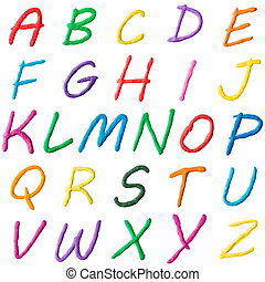 photo collage of letters of the alphabet