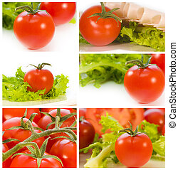 photo collection of ripe tomatoes